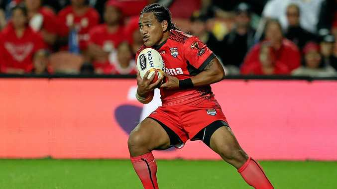 WORLD CUP ACTION: Solomone Kata of Tonga during a Rugby League World Cup clash against Samoa in Auckland.
