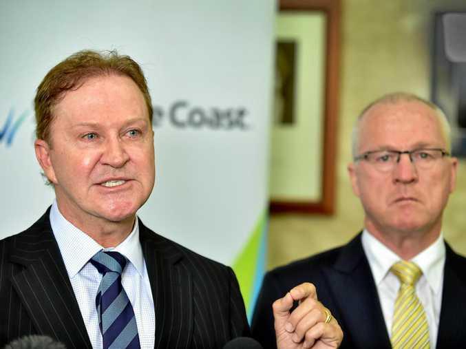 Sunshine Coast Council CEO Michael Whittaker and Mayor Mark Jamieson.