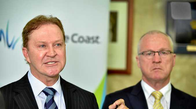 Sunshine Coast Council CEO Michael Whittaker and Mayor Mark Jamieson.