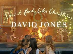 Joyful Christmas story unveiled in windows of David Jones