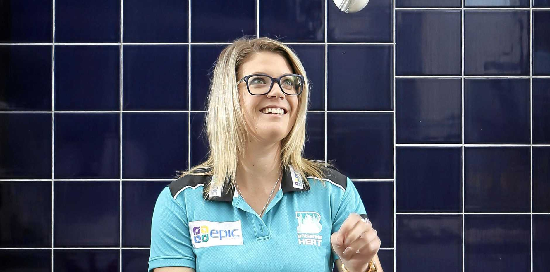 Brisbane Heat women's cricketer Kara Sutherland. Pic Mark Cranitch.