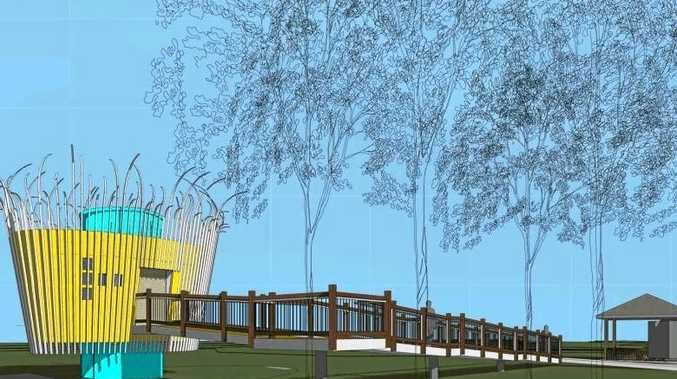 An artist's impression of a new toilet block to be built in Isaac Moore Park in Kenilworth.