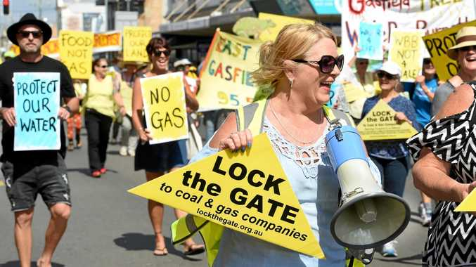 NO FRACKING WAY: A protest march organised by the Wide Bay Burnett Water 4 Life group in September.