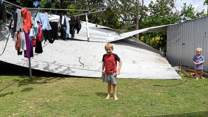 STORM DAMAGE: Bundaberg copped a caning on Tuesday.