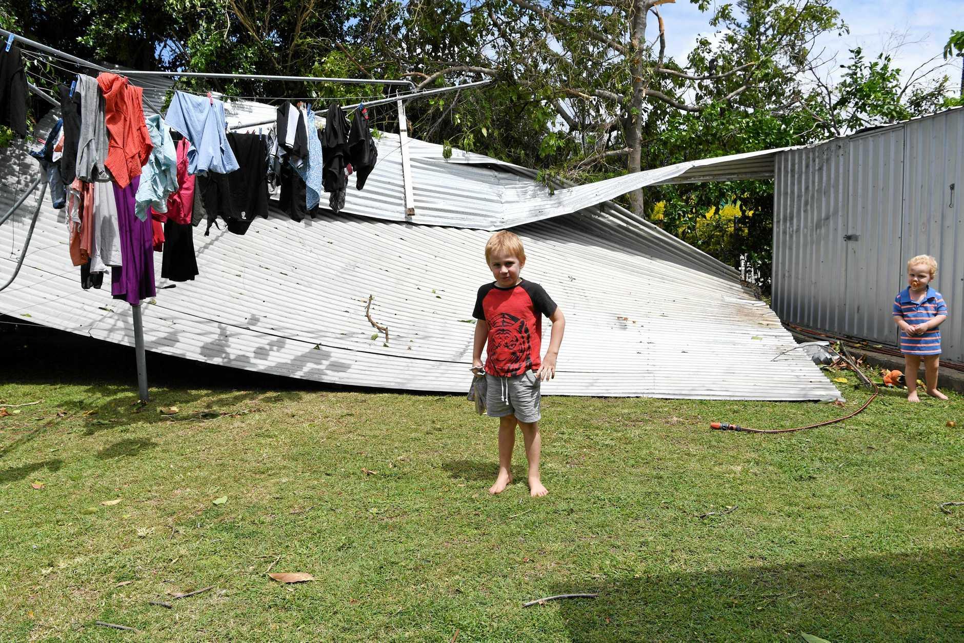 STORM DAMAGE: Bundaberg copped a caning on Tuesday.