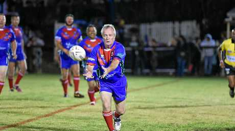 PLAYMAKER: Fraser Coast All Star Peter Waters during last year's Legends of League game.