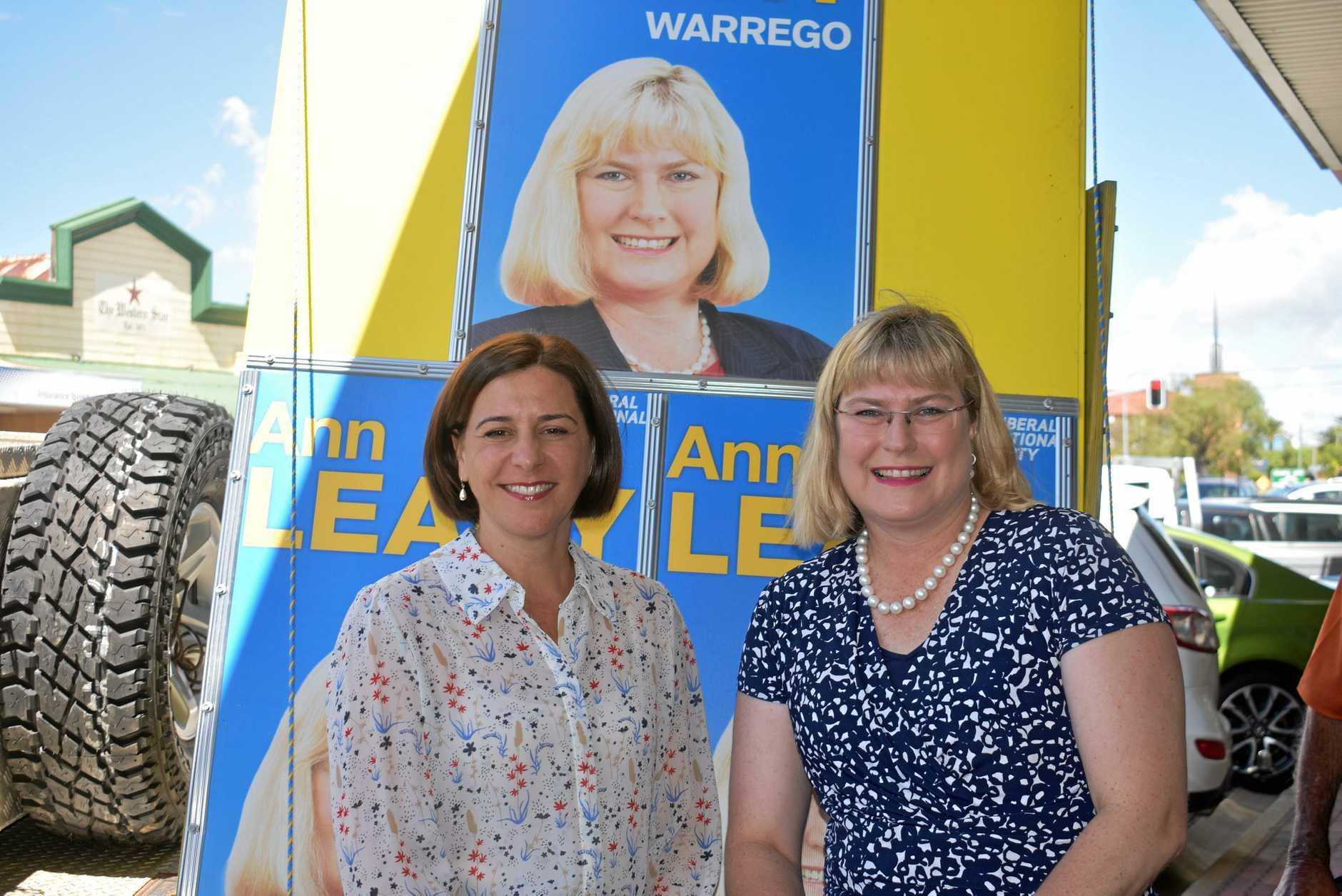 Deb Frecklington and Ann Leahy.