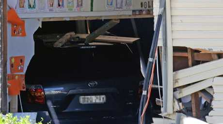 The Toyota Kruger ploughed into a classroom at Banksia Road Primary School. Picture: Jonathan Ng