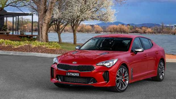 The Kia Stinger packs some punch with a twin-turbo V6 under the bonnet.