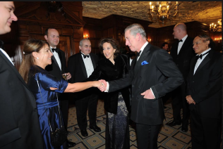 Paola later had the opportunity to meet Prince Charles.