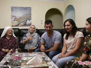 Ebrahim cooking Kebabs