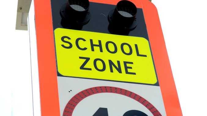 school zone Photo Allan Reinikka / The Morning Bulletin
