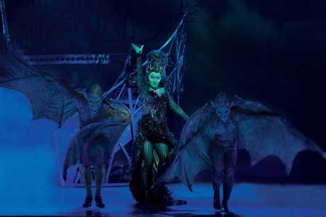 Jemma Rix as the Wicked Witch of the West in a scene from the musical The Wizard of Oz.