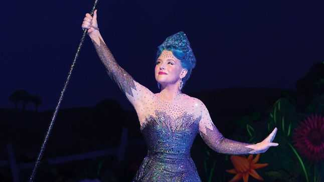 Lucy Durack as Glinda in a scene from the musical The Wizard of Oz.