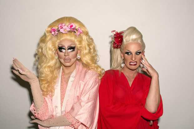Trixie Mattel and Katya Zamolodchikova star in The Trixie and Katya Show. Supplied by SBS-TV.