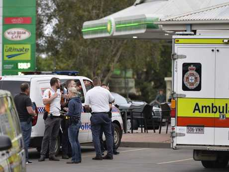 Emergency services attend a police incident