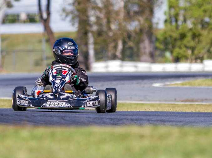 SPEED DEMONS: Nine-year- old Sam James is quickly rising up the go-kart ranks, and his brother Max is setting the pace at the Cooloola Coast Kart Club in Gympie.