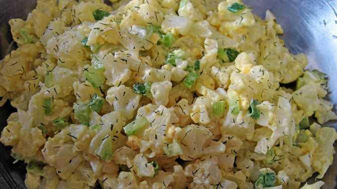 Surprisingly lovely cauliflower salad.