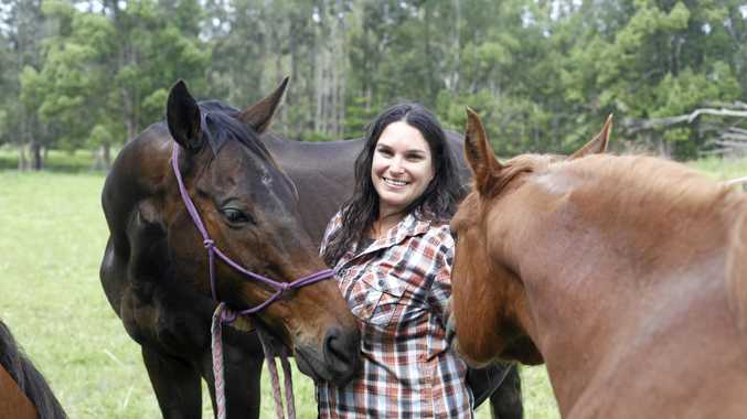 REWARDING: Bianca Mercuri has established a horse haven to help local kids in the Tweed Valley.