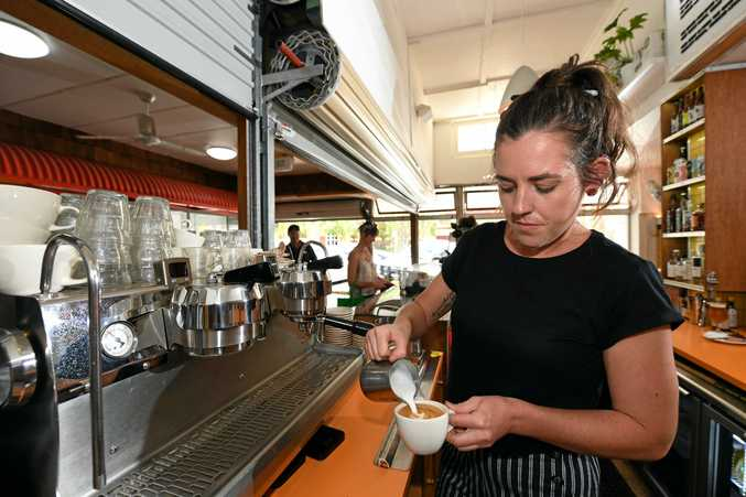 Ally Canhan from Keith Cafe in Murwillumbah, making one of their delicious coffees.
