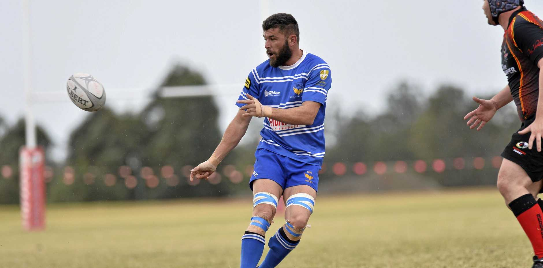 USQ player Martin van Staden will feature in the Remembrance Day Charity match this weekend.