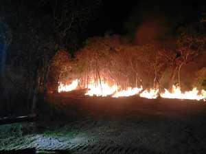Twenty fire fighters battle huge blaze