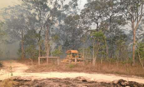 A blaze tore through Ilbilbie this week, fire-fighters working hard to subdue the flames.