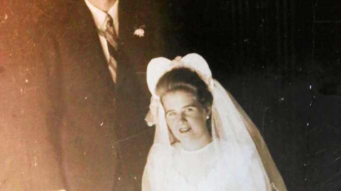 Robert and Muriel Johnstone on theIr wedding day in Proserpine in 1947.