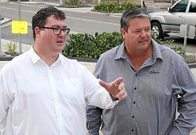 Member for Dawson George Christensen and Whitsunday Mayor Andrew Willcox.