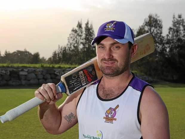 IN FORM: Pottsville Cricket Club's opening batsman and coach Jayden Hoare.