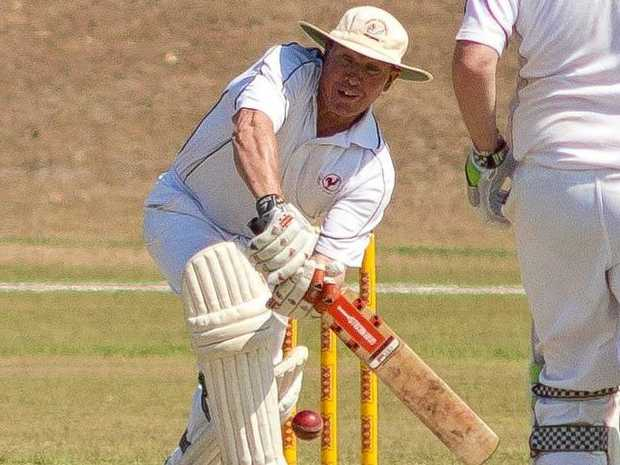 Ross Rideout in the B-grade cricket between BITS Gold and Calliope last year.