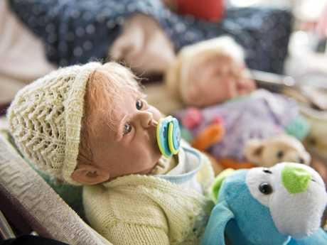 LIFELIKE DOLLS: Elaine Picton creates many types of dolls from horror to realistic.