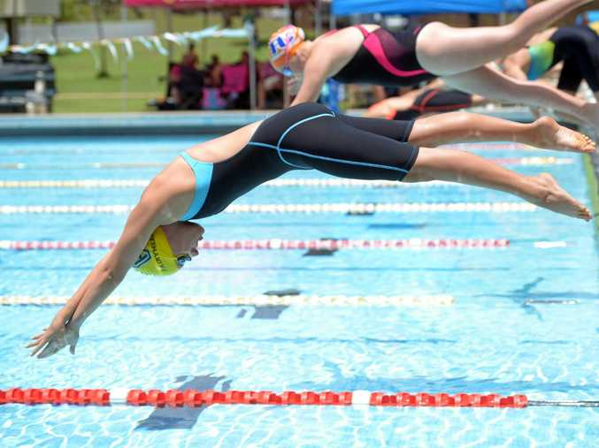 Diving at the blocks could be a distant memory for swimmers at most Sunshine Coast public pools. File photo.