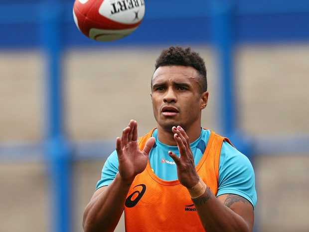 Will Genia during the Australia training session at Cardiff Arms Park this week.