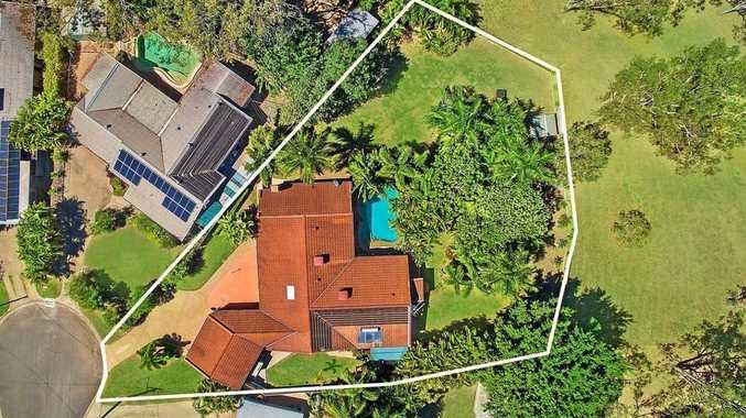 The home sits on a huge block of land at the end of a cul-der-sak.