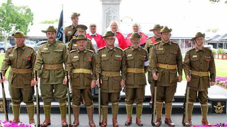Ninth Battalion reenactment group gather for Remembrance Day