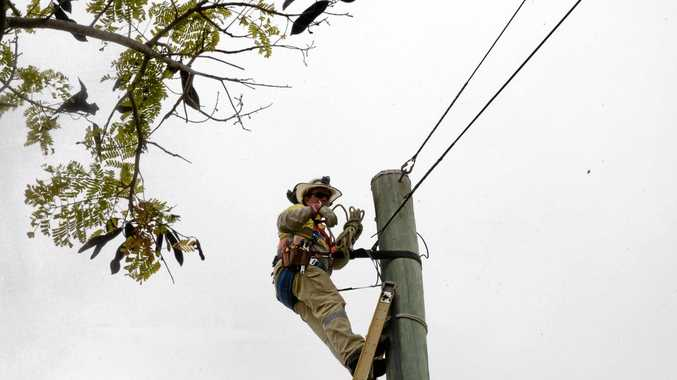 ALMOST DONE: The handful of homes without power should be reconnected today, Ergon says.