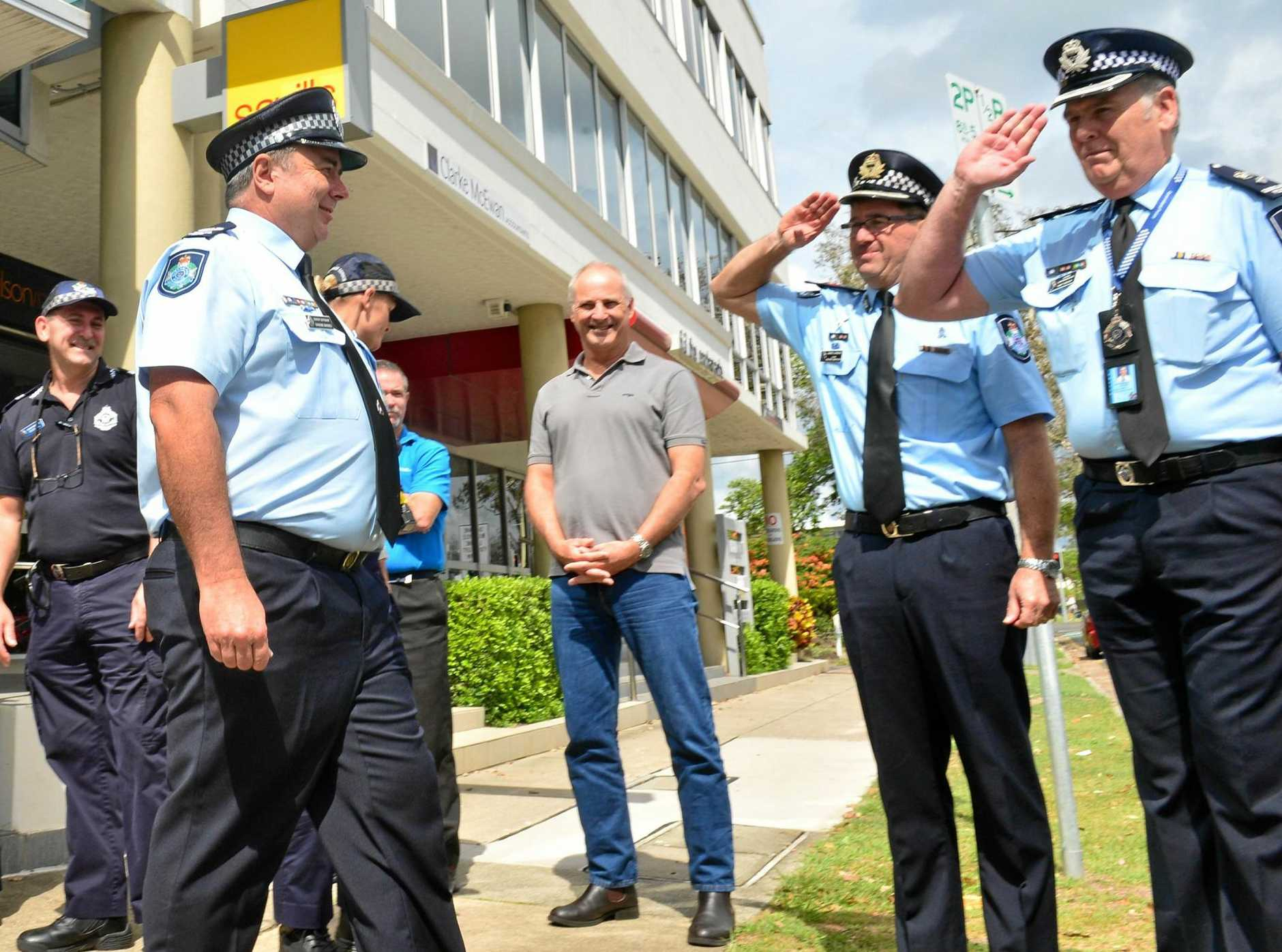Snr Sgt Graeme Barnes retires after 38 years of service.