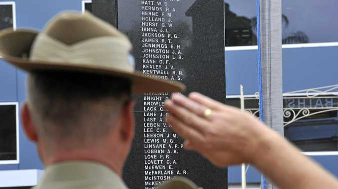 WE WILL REMEMBER THEM: At 11 am on the 11th day of the 11th month the people of Lismore attended the service at the Lismore Memorial Baths to honour Australian servicemen and remember the legacy of those who fought in World War 1 as part of Remembrance Day.