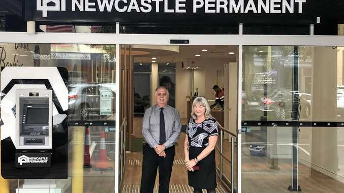 Staff are excited to move back into the refurbished Newcastle Permanent office in Lismore .
