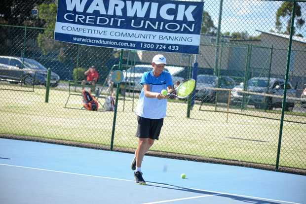 Mac Mehrtens hits hard in the 2017 WCU Southern Downs Junior Tournament.