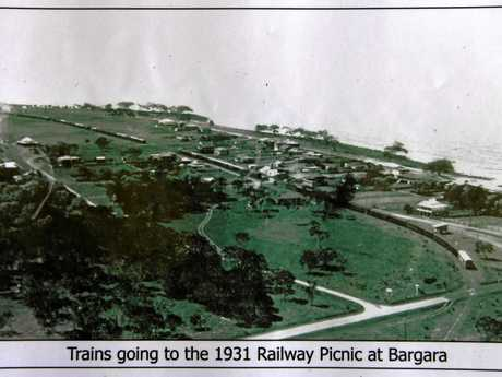 Trains going to th 1931 Railway Picnic at Bargara.