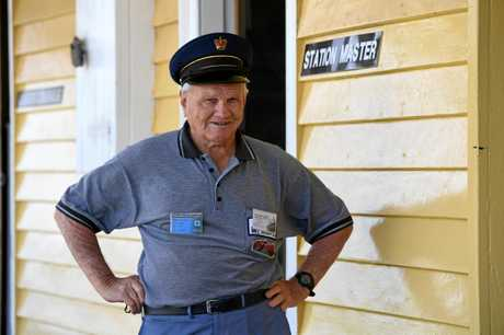 STATION MASTER: The Bundaberg Railway Society's Graham Hibberd.