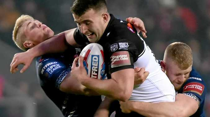 Sam Brooks playing for Widnes in January.
