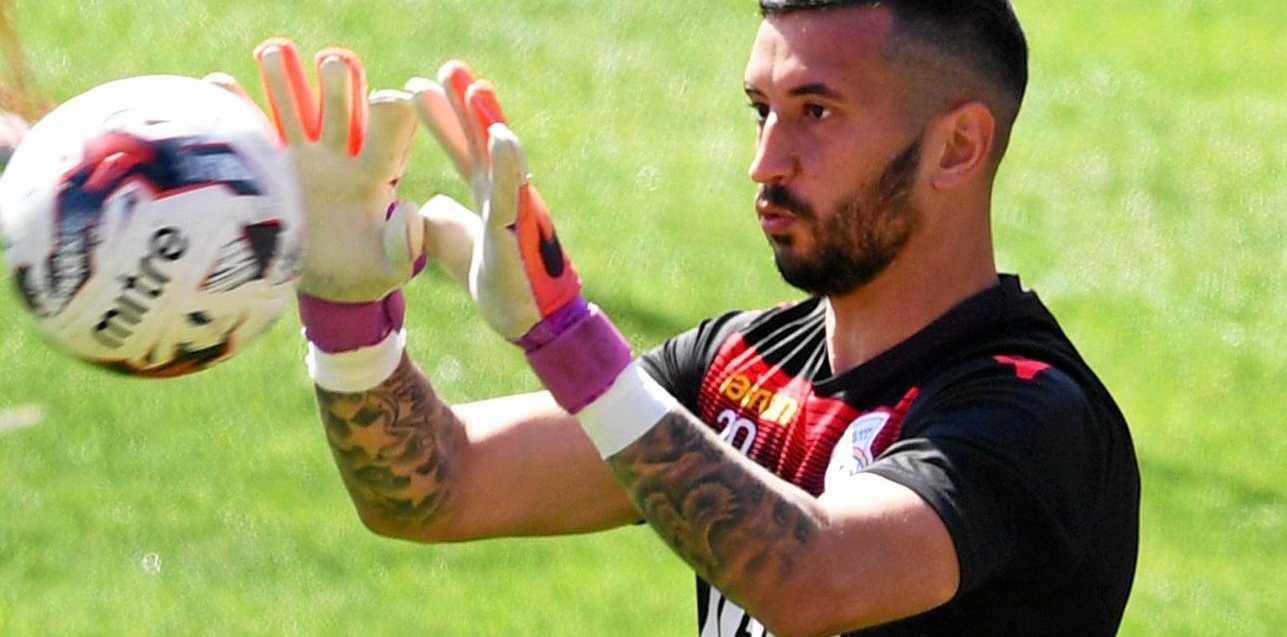 Adelaide United goalkeeper Paul Izzo.