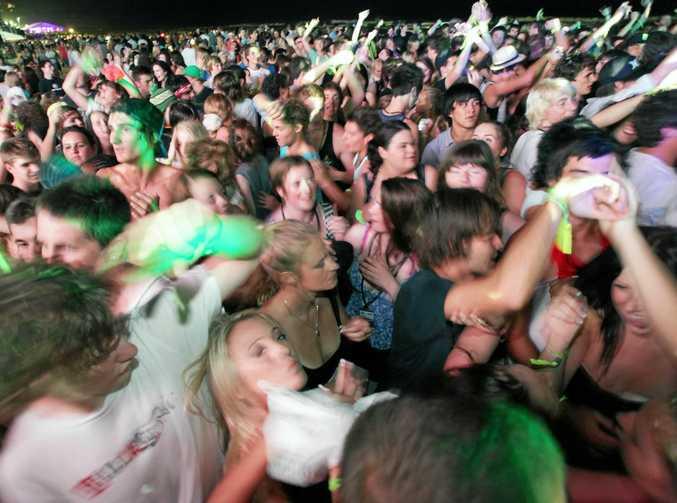 Schoolies celebrate finishing school at the Gold Coast.