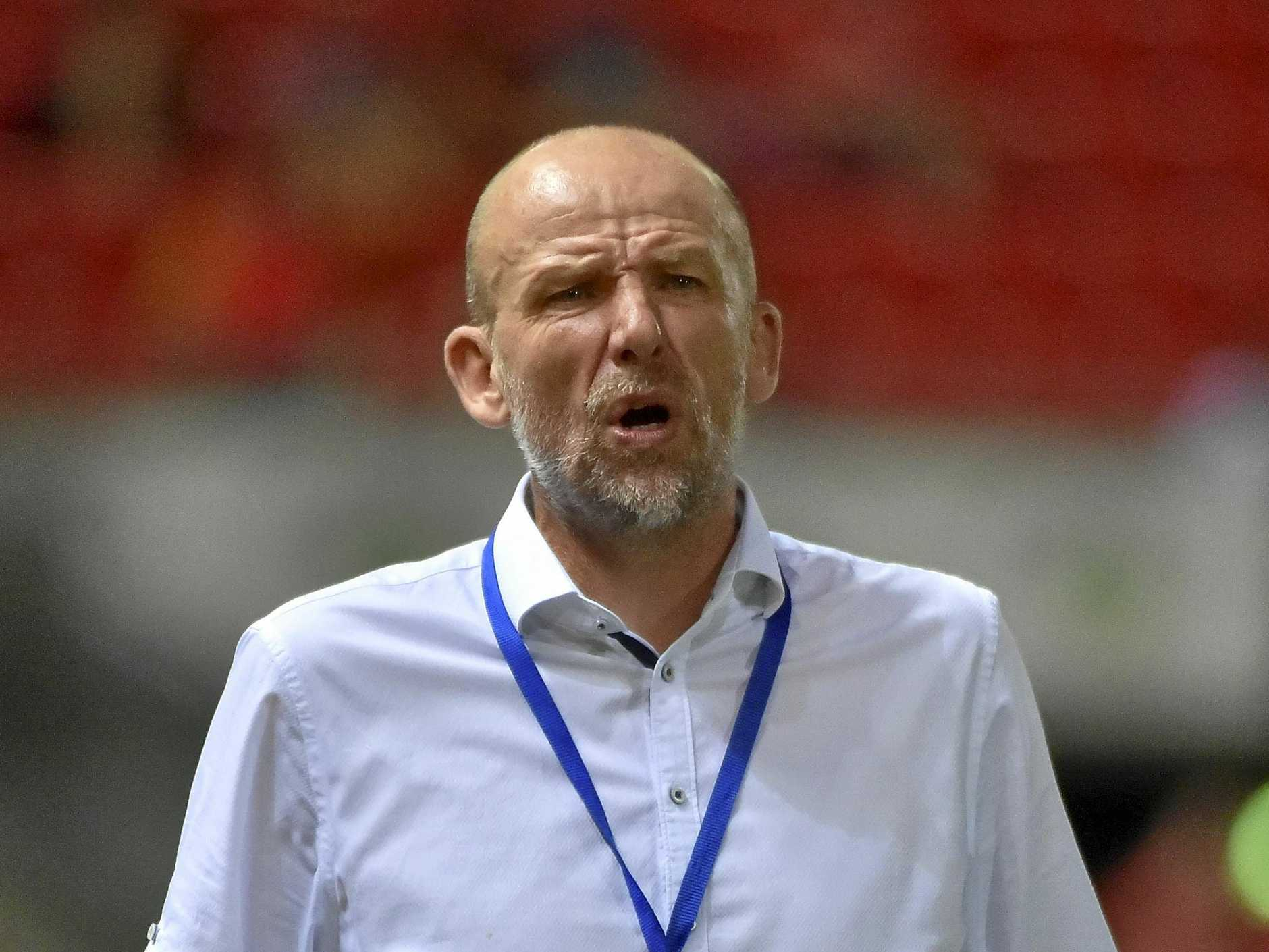 Head coach of the Perth Glory Kenny Lowe.