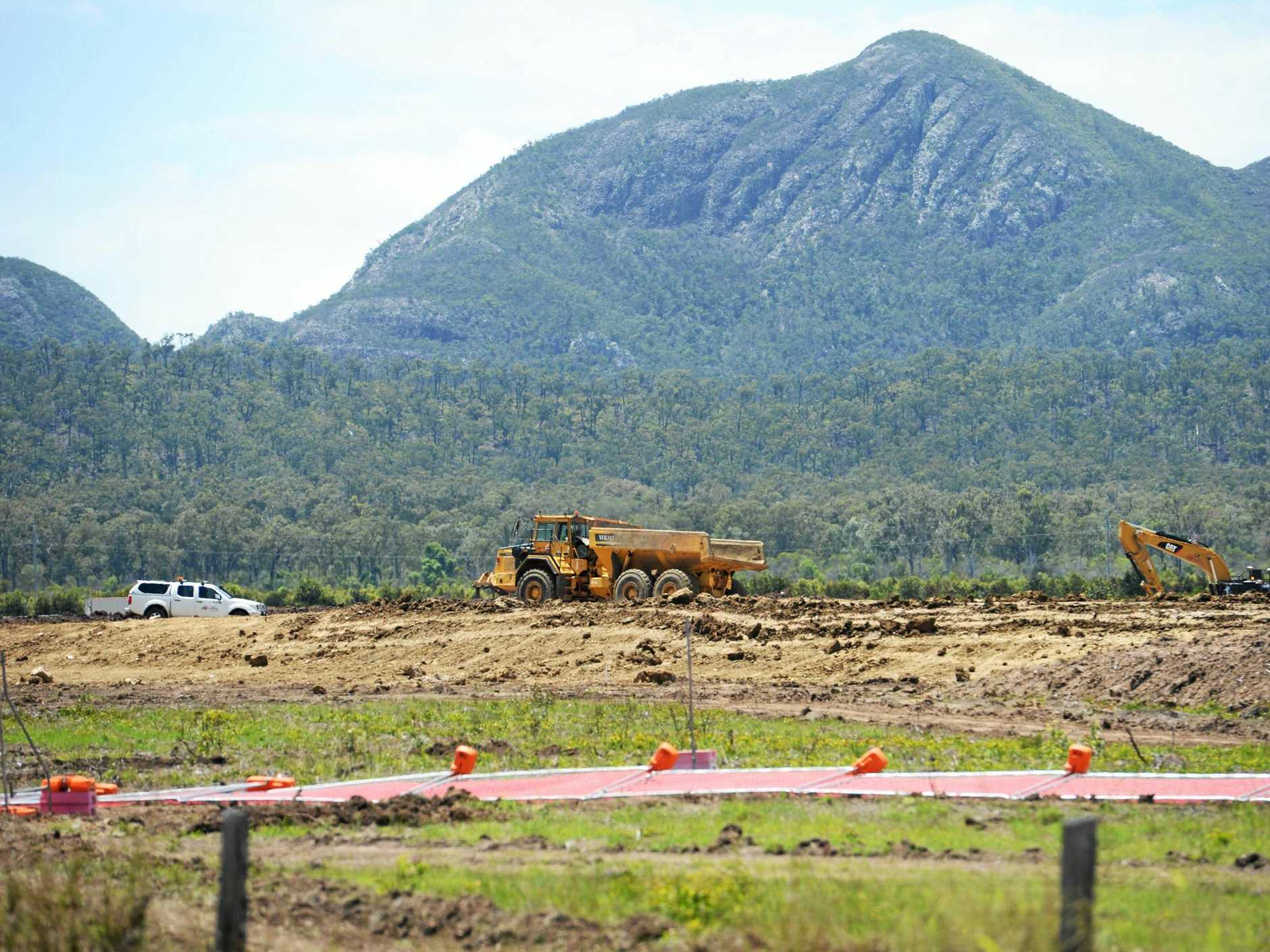 WAVE OF DIRT: Construction has begun at the site along Yeppoon Road.
