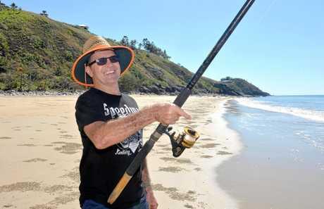 David Blackburn enjoys having a fish at Blacks Beach.