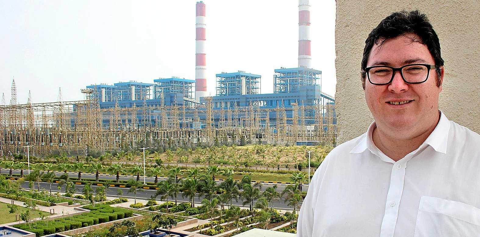 CLEAN COAL: Federal member for Dawson, George Christensen, at Adanis ultra-super-critical coal-fired power generator at the Port of Mundra in India.